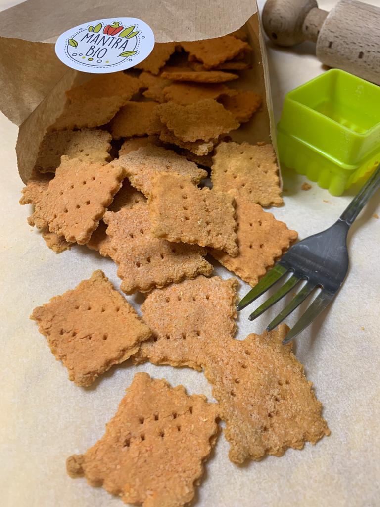 Crackers di lenticchie gialle decorticate